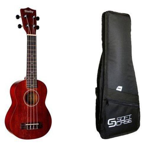 Kit Ukulele Shelby SU21M Soprano+ Bag Acolchoado