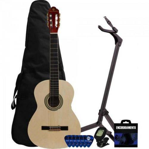 Kit Violão Acústico Clássico Nylon Gna-111 Nt Natural Harmonics + Capa + Suporte + Acessórios