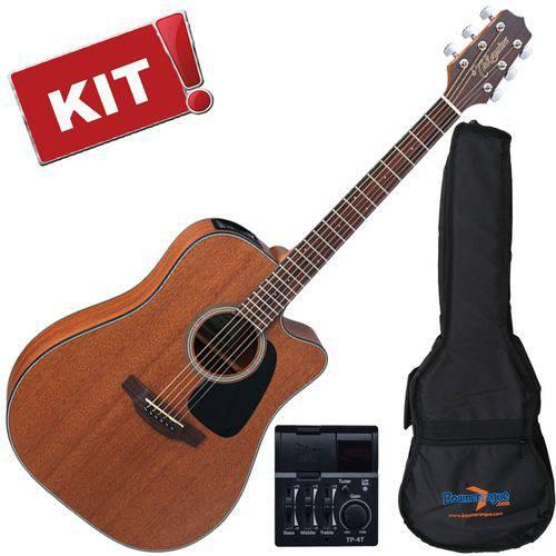 Kit Violão Elétrico Folk Gd11 Mce Natural Fosco Takamine com Capa Bag