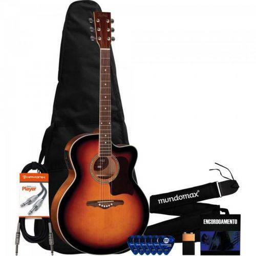 Kit Violão Eletroacústico Jumbo Ye223 Sunburst Hofma + Acessórios
