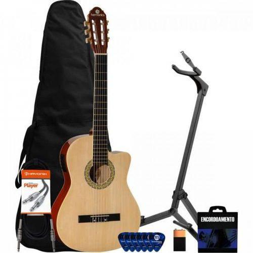 Kit Violão Eletroacústico Nylon Ge-20 Natural Harmonics + Acessórios