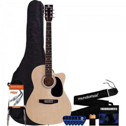 Kit Violão Ge-21 Eletroacústico Harmonics + Acessórios