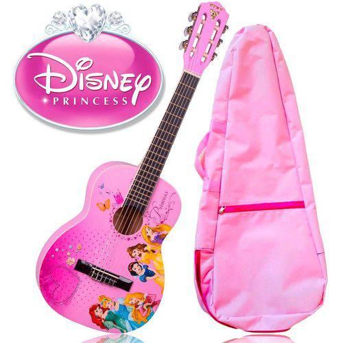 Kit Violão Infantil Rosa VIP - 3 Princesas+capa Rosa