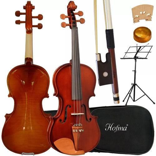 Kit Violino 1/2 Hofma Hve221 Acústico C/ Case + Acessórios