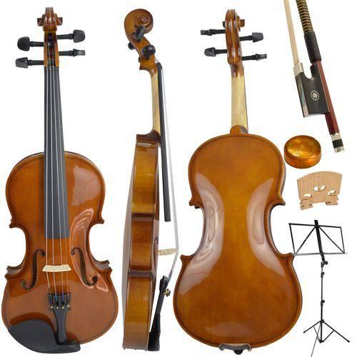 Kit Violino Tradicional 3/4 Dominante Completo com Estante