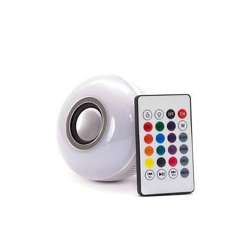 Lâmpada Led - Caixa de Som Bluetooth + Controle