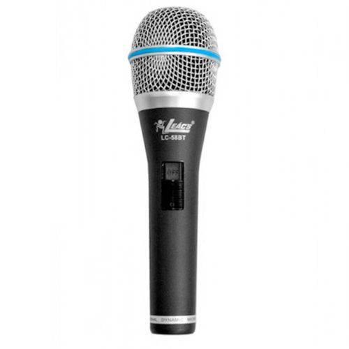Lc58bt - Microfone C/ Fio de Mão Lc 58 Bt - Leacs