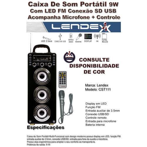 Lendex Caixa de Som Portátil Ld-cst111 (verde)