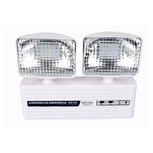 Luminária de Emergência 2 Faróis Led 350