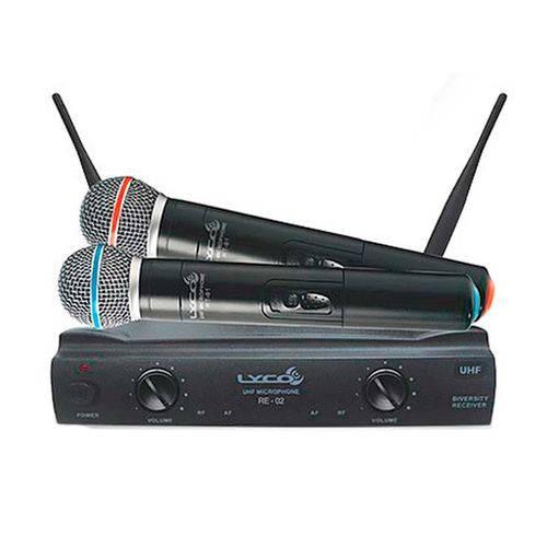 LYCO UH02 MM   Microfone Sem Fio Duplo Mão