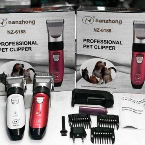 Maquina de Tosa Pet Clipper Cães Bivolt - Nanzhong - Nz-6188