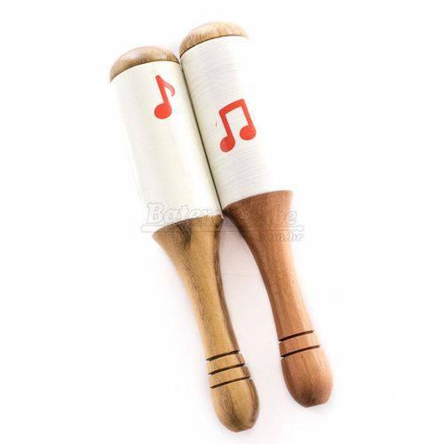 Maracas de Madeira Jog Vibratom P5029 Kit com 2 Unidades (musicalização Infantil)
