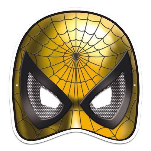 Máscara Aranha Colorido com Impresso - 01 Unidade