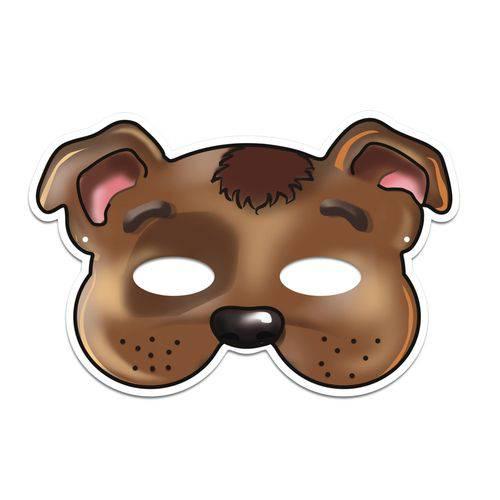 Máscara Cachorro Colorido com Impresso - 01 Unidade