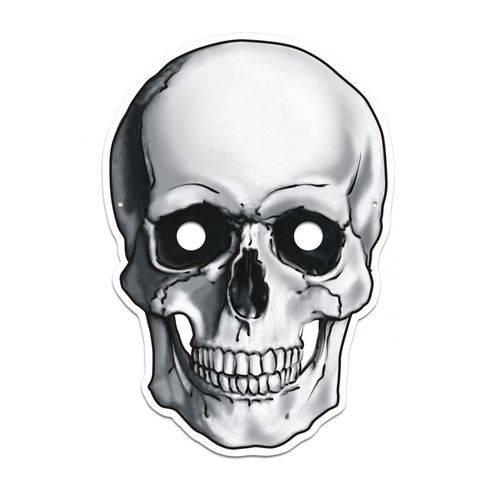 Máscara Caveira Colorido com Impresso - 01 Unidade