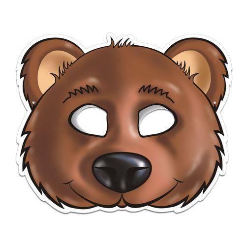 Máscara Urso Colorido com Impresso - 01 Unidade