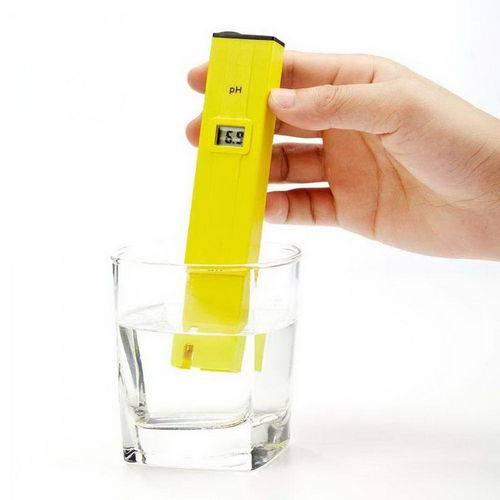 Medidor de Ph para Agua com Display Digital para Aquarios, Piscina, Agua Doce ou Salgada com Estojo