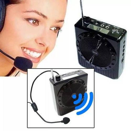 Megafone Amplificador Voz Microfone Multi Função / Radio Fm USB