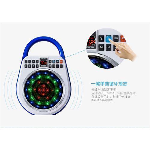 Megafone de Mao Led com Microfone Gravador Radio Fm Digital USB e Sd Caixa de Som com Iluminação