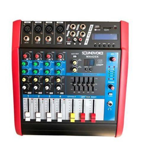 Mesa Analógica 4 Canais Soundvoice Ma 420 X
