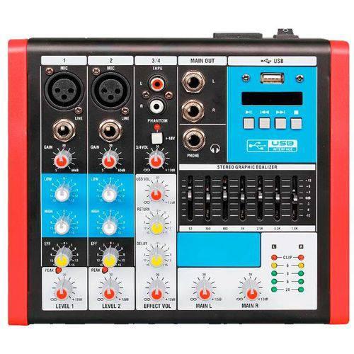 Mesa Analógica 4 Canais Soundvoice Mc4 Eux