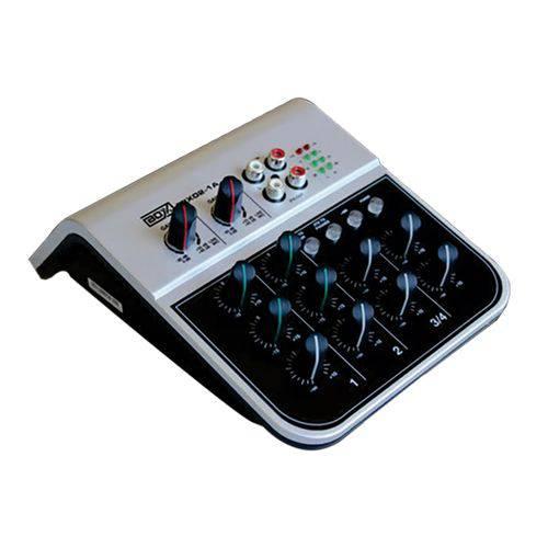 Mesa de Som 4 Canais Bivolt MIX02-1A Boxx