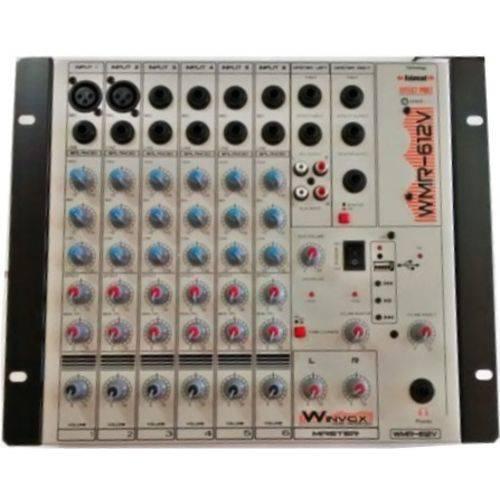 Mesa de Som 6 Canais Winvox WMR - 612V Efeito e USB