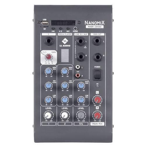 Mesa de Som Mixer Nanomix LL Audio CDX 302