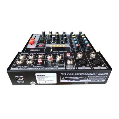 Mesa de Som Profissional 7 Canais Bluetooth Grava USB Mp3