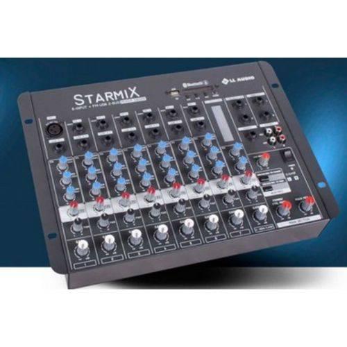 MESA DE SOM STARMIX S802R BT com USB e BLUETOOTH LL AUDIO