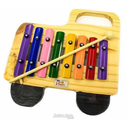 Metalofone Jog Vibratom Caminhão P2233 8 Teclas Coloridas e Baqueta (musicalização Infantil) 15123