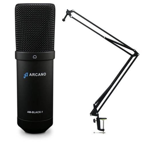 Mic Estudio Am-black1 Usb + Pedestal Articulado Ss-02