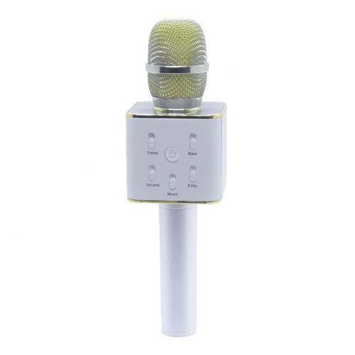 Microfone Alto Falante Karaokê Bluetooth Videokê Usb