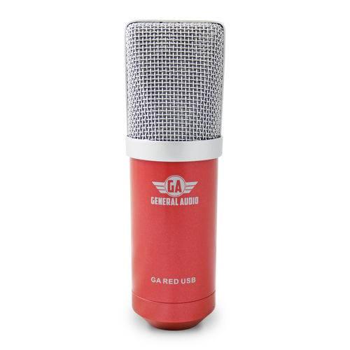 Microfone Arcano com Fio Condensador Usb Ga Red Usb