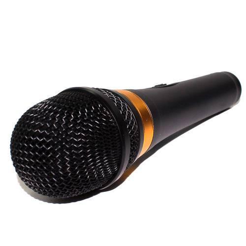 Microfone Cabo 4,50 Metros Preto e Dourado 600r