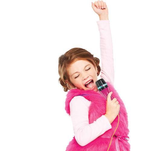 Microfone com Base - Barbie- Karaokê - Microfone Fabuloso - Fun