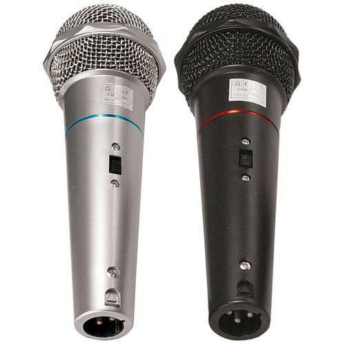 Microfone com Fio de Mão VOXTRON By CSR VOX CSR 505 Dinâmico 600 OHMS C/ Cabo 3MTS (PAR)
