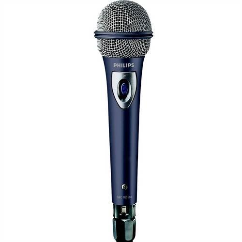 Microfone com Fio Dinâmico Prata Sbcmd15001 Philips