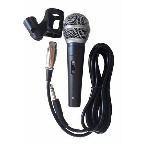 Microfone com Fio Dx58 Sm58 Devox Profissional + Cachimbo