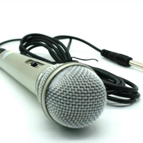 Microfone com Fio Profissional Dinâmico Dm 701 Prata