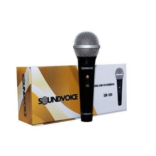Microfone com Fio Sm 100 Sounvoice