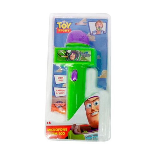 Microfone com Luz Verde Toy Story Toyng
