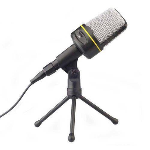 Microfone Condensador Multimídia com Tripé para Gravacao no