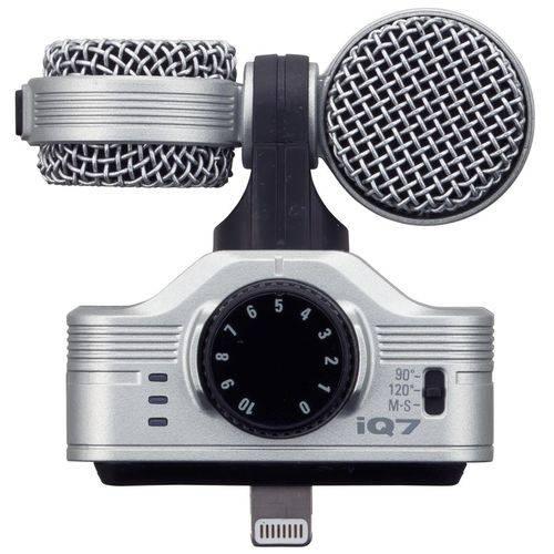 Microfone Condensador Zoom Iq7 Professional Estéreo Silver - para Ios