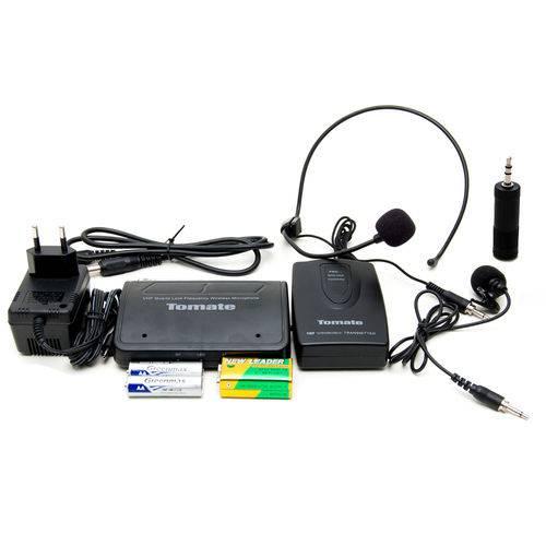 Microfone de Lapela Completo Wireless Sem Fio Headset