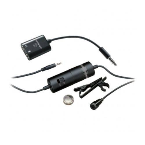 Microfone de Lapela para Câmeras/smartphones Audio Technica ATR-3350 IS