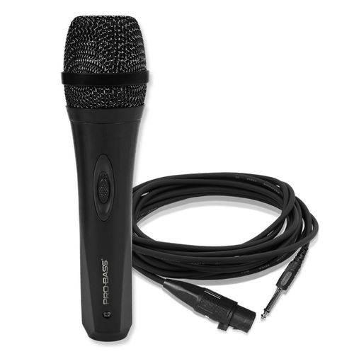 Microfone de Mão com Fio Pro Bass Pro Mic 500