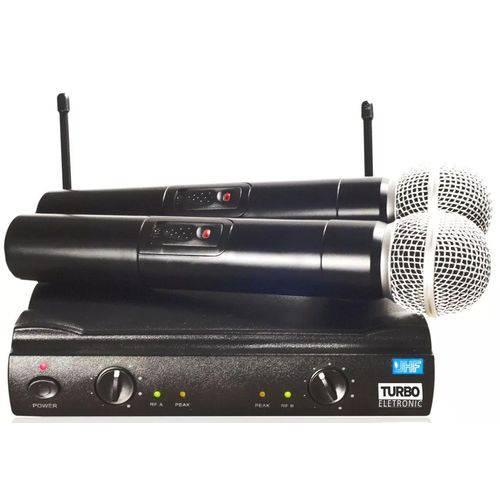 Microfone de Mão Duplo - Uhf