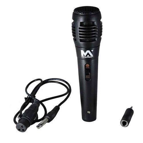 Microfone de Mão Karaokê com Cabo Completo