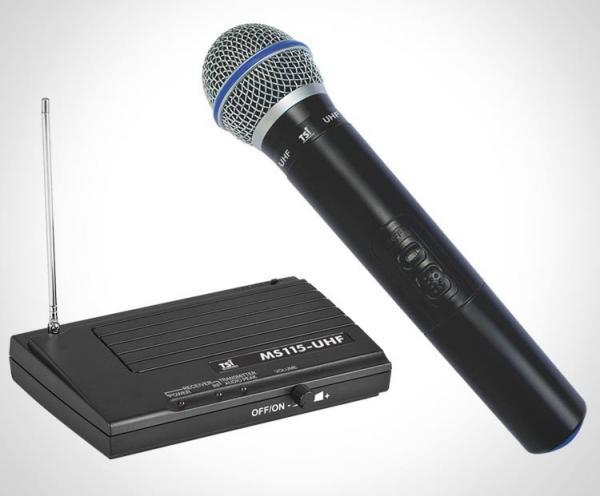 Microfone de Mão Sem Fio TSI UHF - MS115